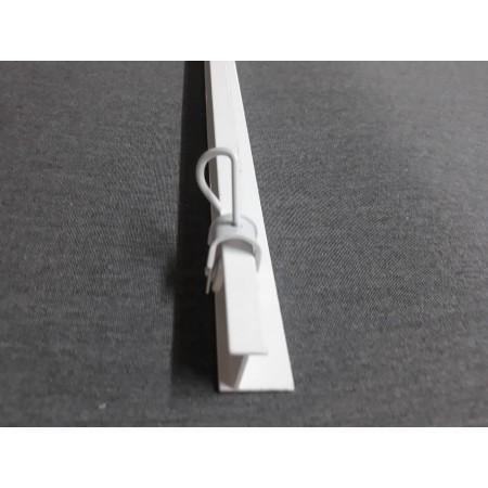 Perfil riel aluminio