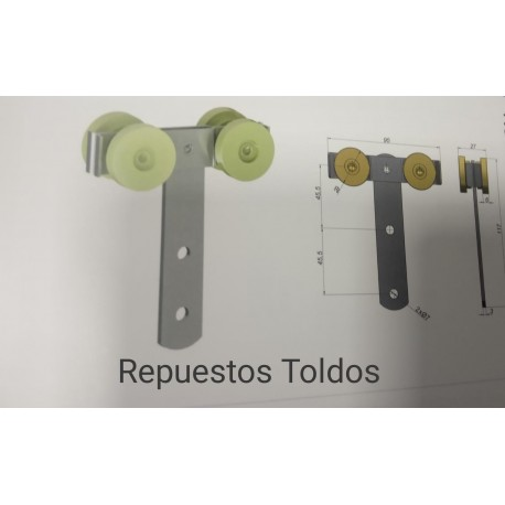 RUEDAS LATERAL CORTINAS TRAILER