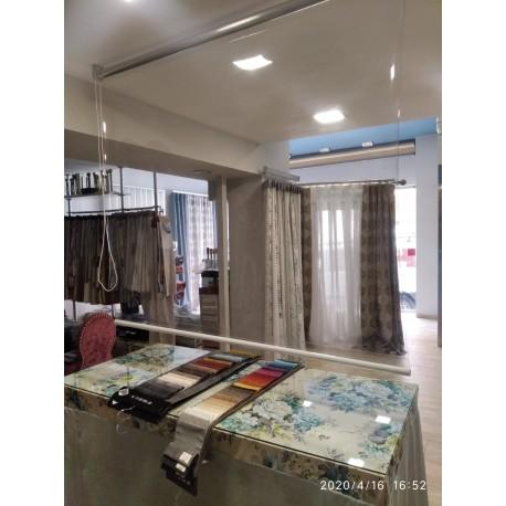 Manpara mostrador Sistema de protección PVC Enrrollable