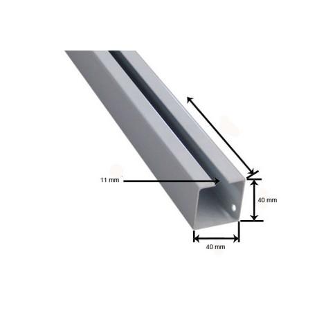 Tubo Guia 40*40 mm Aluminio